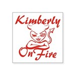 Kimberly On Fire Square Sticker 3