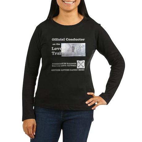 Official Conductor Women's Long Sleeve Dark T-Shir