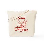Kim On Fire Tote Bag