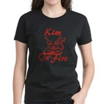 Kim On Fire Women's Dark T-Shirt