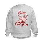 Kim On Fire Kids Sweatshirt