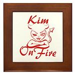 Kim On Fire Framed Tile