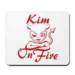 Kim On Fire Mousepad