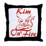 Kim On Fire Throw Pillow