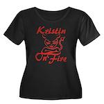 Kristin On Fire Women's Plus Size Scoop Neck Dark