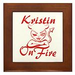 Kristin On Fire Framed Tile