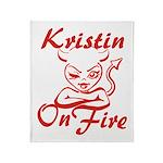 Kristin On Fire Throw Blanket
