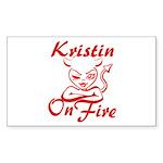Kristin On Fire Sticker (Rectangle)