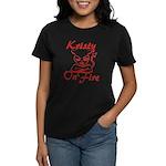 Kristy On Fire Women's Dark T-Shirt