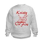 Kristy On Fire Kids Sweatshirt