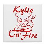 Kylie On Fire Tile Coaster