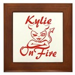 Kylie On Fire Framed Tile
