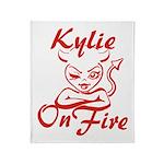 Kylie On Fire Throw Blanket