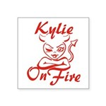 Kylie On Fire Square Sticker 3