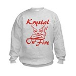 Krystal On Fire Kids Sweatshirt