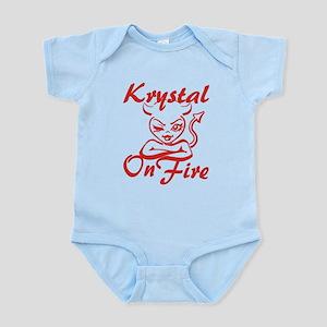 Krystal On Fire Infant Bodysuit