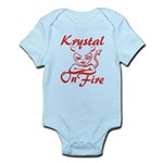 Krystal On Fire Infant Bodysuit