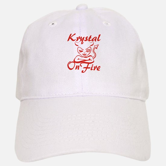 Krystal On Fire Baseball Baseball Cap