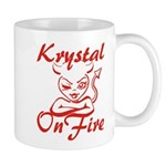 Krystal On Fire Mug