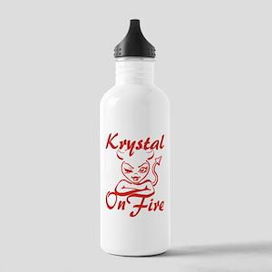 Krystal On Fire Stainless Water Bottle 1.0L