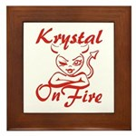 Krystal On Fire Framed Tile