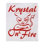 Krystal On Fire Throw Blanket