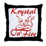 Krystal On Fire Throw Pillow