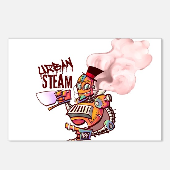 Color Washed Steambot Logo Postcards (Package of 8