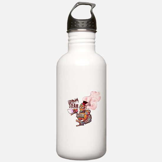 Color Washed Steambot Logo Water Bottle