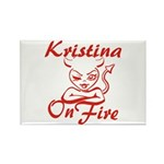 Kristina On Fire Rectangle Magnet