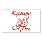 Kristina On Fire Sticker (Rectangle)