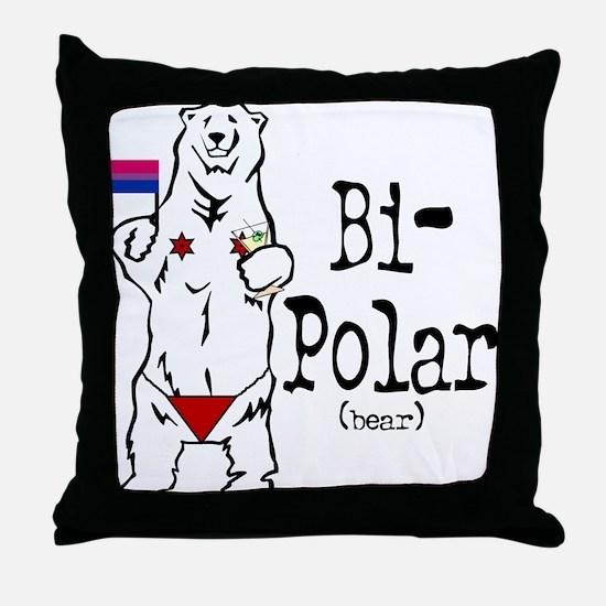 Bi-Polar (bear) Throw Pillow