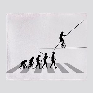 High Wire Unicycle Throw Blanket
