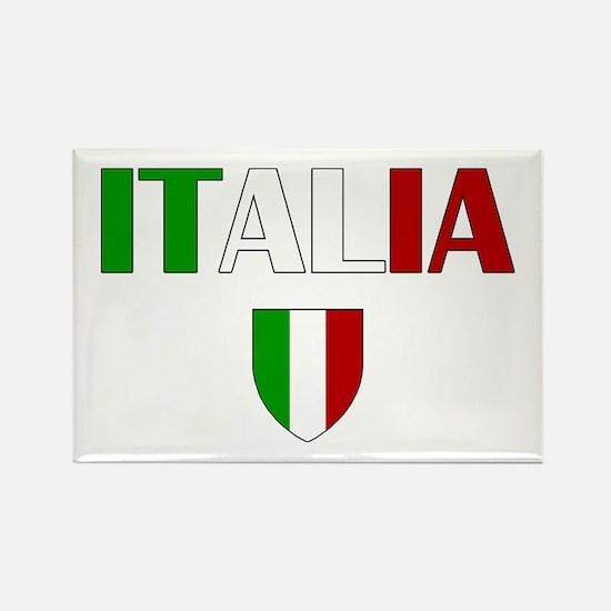 Italia Logo Rectangle Magnet