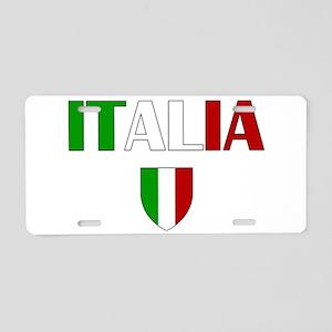 Italia Logo Aluminum License Plate
