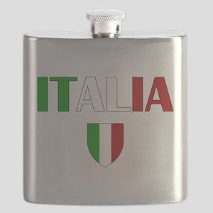 Italia Logo Flask