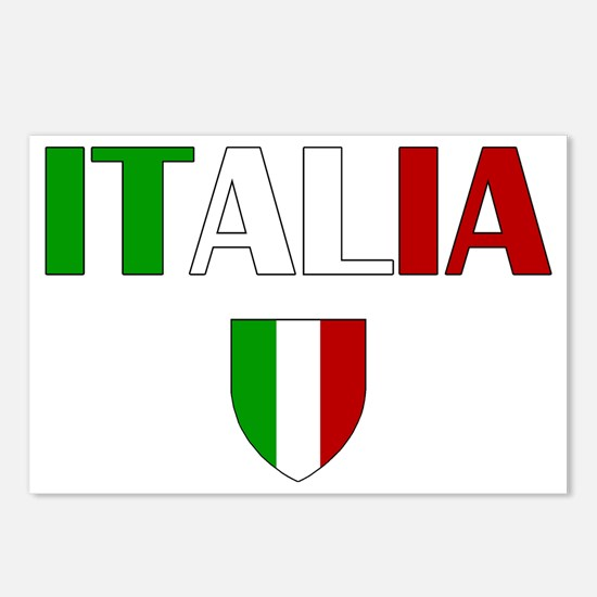 Italia Logo Postcards (Package of 8)