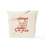 Latoya On Fire Tote Bag