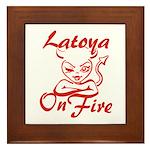 Latoya On Fire Framed Tile