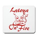 Latoya On Fire Mousepad