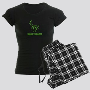 WANT TO RACE? Women's Dark Pajamas