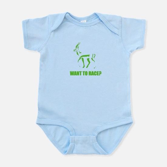 WANT TO RACE? Infant Bodysuit