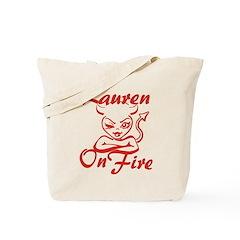 Lauren On Fire Tote Bag
