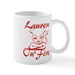 Lauren On Fire Mug