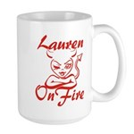 Lauren On Fire Large Mug