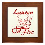 Lauren On Fire Framed Tile
