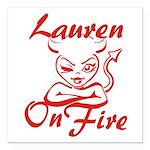 Lauren On Fire Square Car Magnet 3