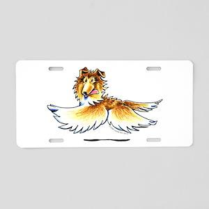 Happy Collie Aluminum License Plate