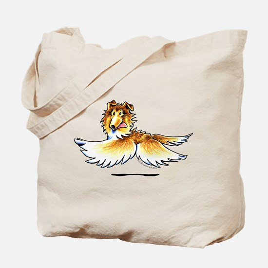 Happy Collie Tote Bag