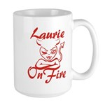 Laurie On Fire Large Mug